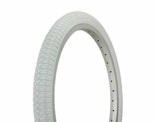 "258161 DURO Tire 20/"" x 1.75/"" White//White BMX BIKE Side Wall HF-143G."