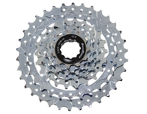 Bicycle Bike 9 Speed Cassette 11//25t Index CSR-91 Nickel Sun Race MTB FIXIE NEW