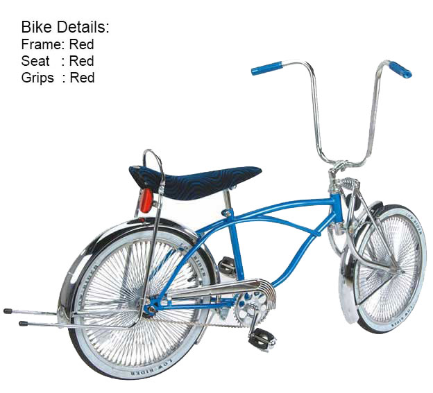 """NEW Lowrider Bicycle 10 1//2/"""" Wing Kickstand Center Chopper Bike Gold"""