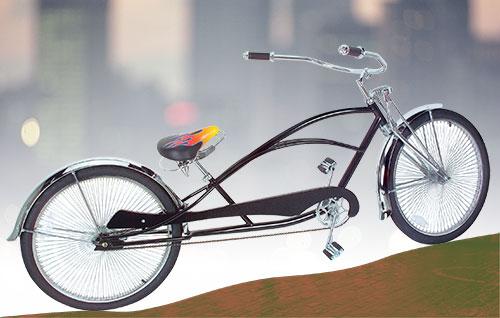 BICYCLE BELL LOWRIDER Gold BEACH CRUISER BMX MTB TRIKE CHOPPER CYCLING BIKES